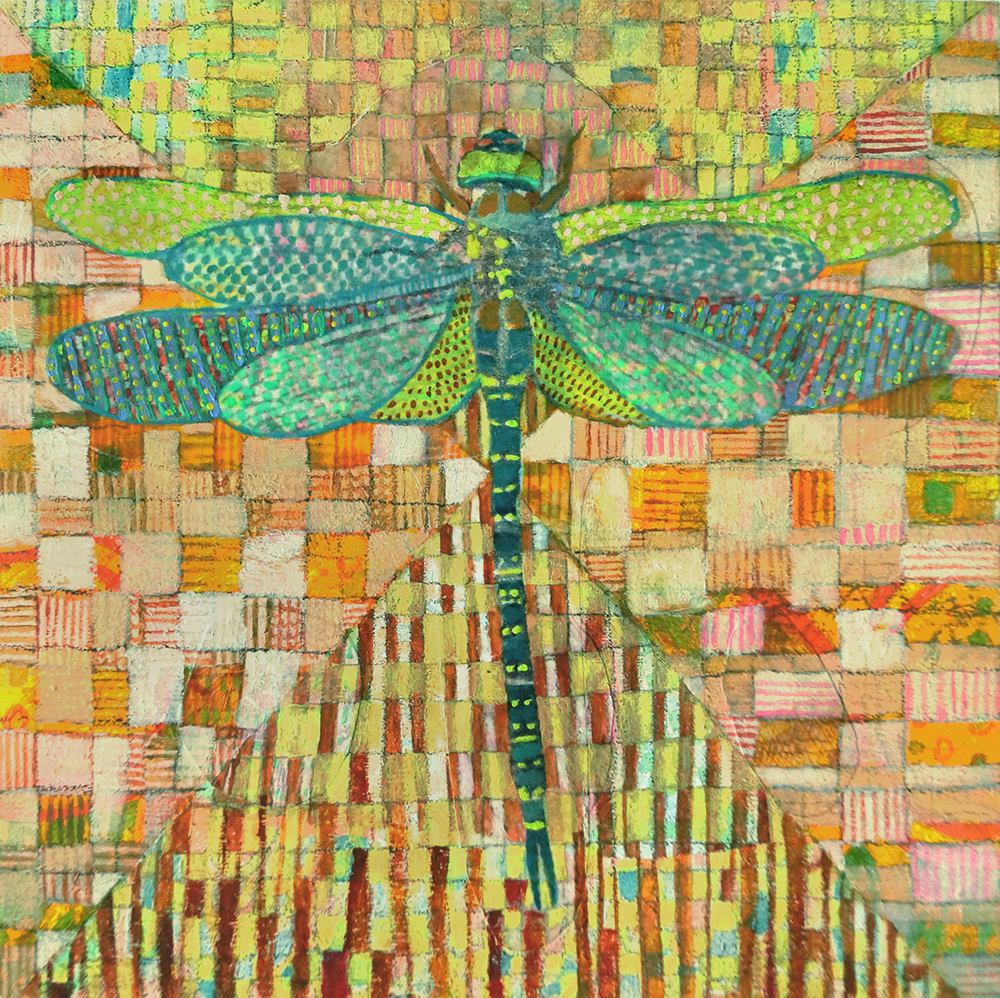 Flydragon,dragonfly#2,6x6in,2012